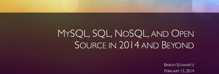 MySQL, SQL and NoSQL