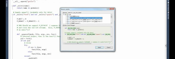 Refactoring with Python Tools for Visual Studio