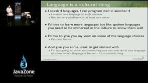 Using Alternative Languages in the Enterprise